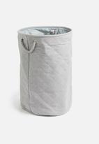 Sixth Floor - Diamond laundry basket - grey