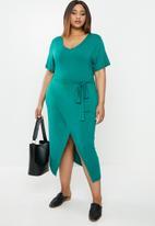 edit Plus - Easy wrap dress - green