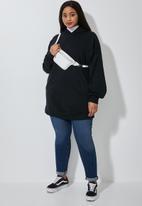 Superbalist - Longline hoodie - black