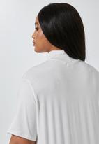 Superbalist - 2 pack funnel neck swing tees - grey & white