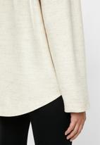 STYLE REPUBLIC - Hooded melton jacket - neutral