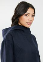 STYLE REPUBLIC - Hooded melton jacket - navy