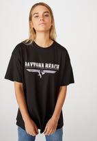 Cotton On - The original graphic tee daytona beach - washed black