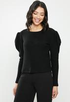 MILLA - Cable knit top - black