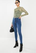 Glamorous - Nell super high waisted jean - mid stonewash