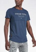 S.P.C.C. - Foley slub logo tee - navy