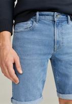 MANGO - Rockh bermuda shorts - open blue