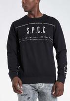 S.P.C.C. - Webster signature crew neck sweat - black