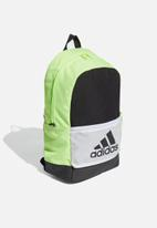 adidas Performance - Classic badge of sport backpack - black & signal green