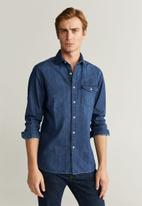 MANGO - David shirt - blue