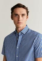 MANGO - Vichyh-h shirt - navy