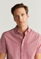 MANGO - Vichyh-h shirt - red