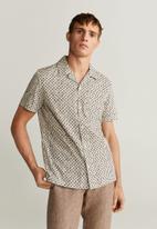 MANGO - Road shirt - neutral & black