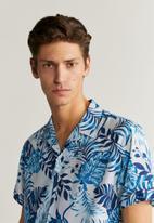MANGO - Paradise-h shirt - light pastel blue