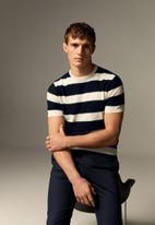 MANGO - Pasta sweater  - navy & white