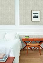Hertex Fabrics - Herringbone wallpaper roll - shell