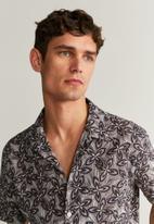 MANGO - Rose shirt - brown & black