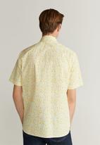 MANGO - Lima-h shirt - white & citrus