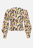 Glamorous - Petite v-neck blouse - multi