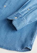 MANGO - Chambre shirt - open blue