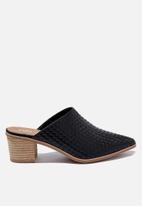 Cotton On - Elena textured mule - black