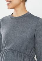 Superbalist - maternity baby doll sweater - grey
