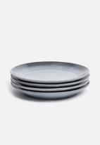 Sixth Floor - Swirl  dinner plate set of 4 - midnight