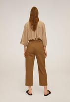 MANGO - Relexed trousers - brown