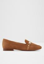 ALDO - Astareclya suede loafer - light brown