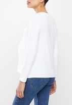 Superbalist - Maternity 2 pack long sleeve crew neck - navy & white