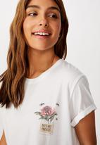 Cotton On - Classic arts T-shirt bees are friends - white