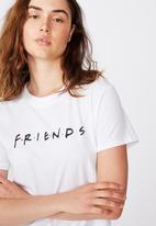 Cotton On - Classic Friends T-shirt lcn wb friends - white