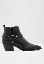ALDO - Wrangler leather boot - black