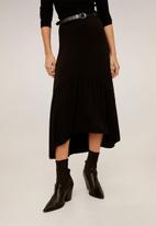 MANGO - Skirt reopri - black