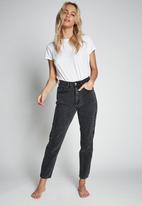 Cotton On - Mom jean - super washed black