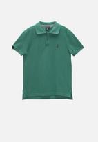 POLO - Boys Austin short sleeve golfer - green