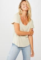 Cotton On - The one scoop tee - sand
