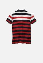 POLO - Boys Craig striped short sleeve golfer - multi