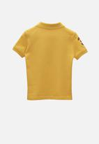 POLO - Boys Justin cut & sew numerical short sleeve golfer - yellow