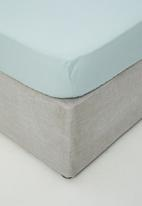 Sixth Floor - Cotton fitted sheet - duck egg