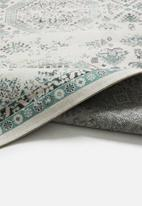 Hertex Fabrics - Karim blue surf rug - blue