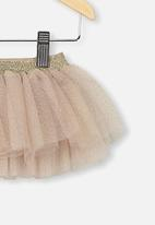 Cotton On - Florence tulle skirt - gold glitter