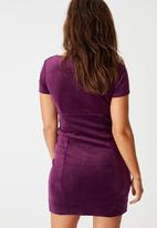 Factorie - Velvet baby doll dress - purple