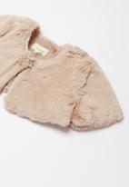 Superbalist - Tweens faux fur coat - blush