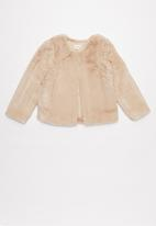Superbalist - Tweens faux fur jacket -  blush