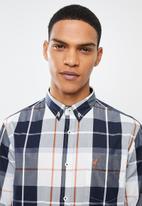 POLO - Mens Kurtis long sleeve checked weekender shirt - multi