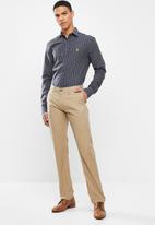 POLO - Mens robert signature stripe ls shirt - navy