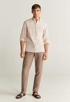MANGO - Ring shirt - beige