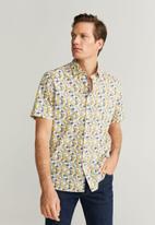 MANGO - Flower shirt - multi