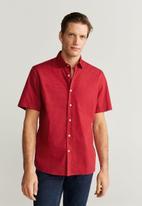 MANGO - Doto shirt - red
